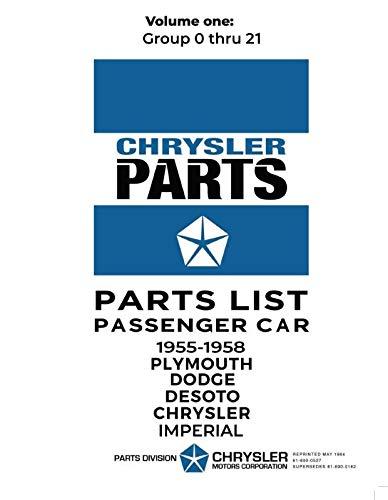 1955-1958 Mopar Car Parts Catalog