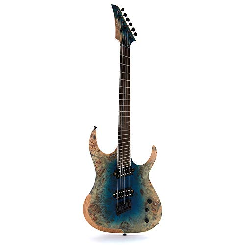 ZUWEI Solid Body Electric Guitar 6 Strings – ASH Body, Mahogany & Rosewood Neck – Blue Burst