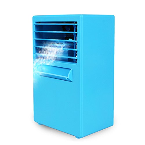 Portable Air Conditioner Fan Small Desktop Fan Personal Misting Fan Mini Evaporative Air Cooler Circulator 9.5 inch