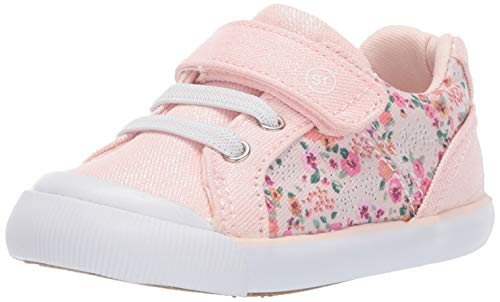 Stride Rite Girls Sneakers - Stride Rite Parker Girl's Casual Sneaker, Pink Floral, 5 M US Toddler