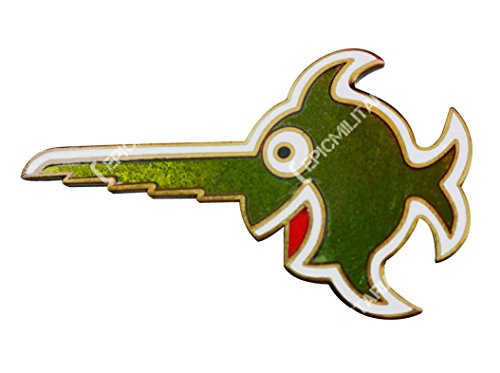 Epic Militaria WW2 German 9th Flotilla U-Boat Cap Badge - Laughing Swordfish Pin in ()