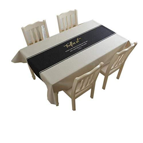 A 140200cm Giow Nappe en Coton et Lin épaisse Nappe Simple Restaurant Nappe Restaurant créatif Nappe de Salon Housse de Prougeection (Couleur  A, Taille  140  200cm)