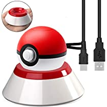 Poké Ball Plus Charge Stand with USB Charger Cable Charger Stand for Pokeball Plus Controller for Switch Lets GoPikachu Lets Go Eevee Game Controller