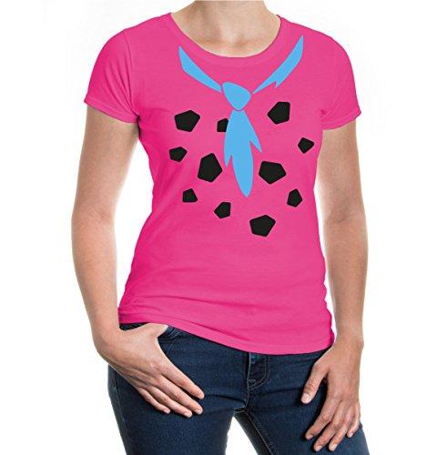 Girlie T-Shirt Stone-Age-Dress Fuchsia