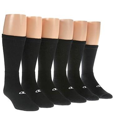 Champion Double Dry Performance Men's Crew Socks 6-Pack