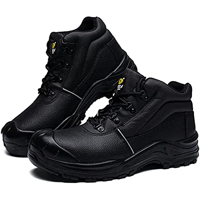 DRKA Water Resistant Steel Toe Work Boots for Men,6'' EH-Rated Safety Boots