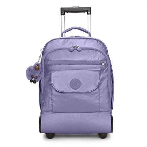 Kipling Sanaa Metallic Mist Purple Rolling Backpack, MTLMISTPRL