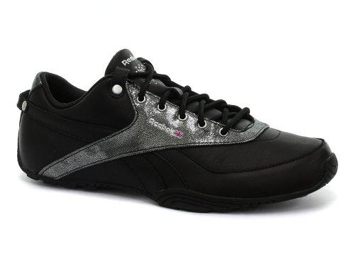 Reebok Oshen Black/Silver Womens Sneakers, Size 7