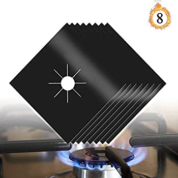 MOTORFANSCLUB 10-Pack Stove Burner Covers Gas Stove Protectors Stove Top Liners Stove Stovetop Covers Double Thickness Reusable Non-Stick Easy to Clean for Kitchen