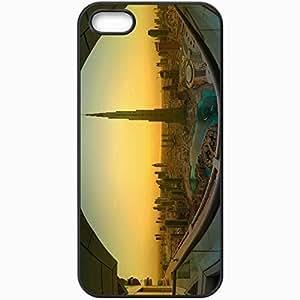 Protective Case Back Cover For iPhone 5 5S Case Dubai Burj Dubai Sunrise Sunset Beauty Black