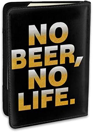 No Beer No Life ビール パスポートケース パスポートカバー メンズ レディース パスポートバッグ ポーチ 収納カバー PUレザー 多機能収納ポケット 収納抜群 携帯便利 海外旅行 出張 クレジットカード 大容量