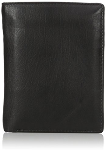 Mens Two Fold Wallet (Buxton Men's Houston RFID Blocking Deluxe Two-Fold, black, One Size)
