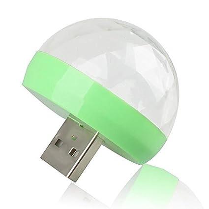 DJ Light USB Powered Mini RGB LED Disco Ball Shape Stage Effect Party Club (for iPhone) Aquiver