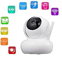 Nanny camera New Security camera 2 Way Audio 1280x720p Baby Video Monitor with Night Vision-AOLANS