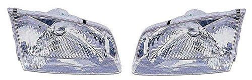 00 01 02 Mazda 626 Headlamp Headlight Pair Set Driver and Passenger ()