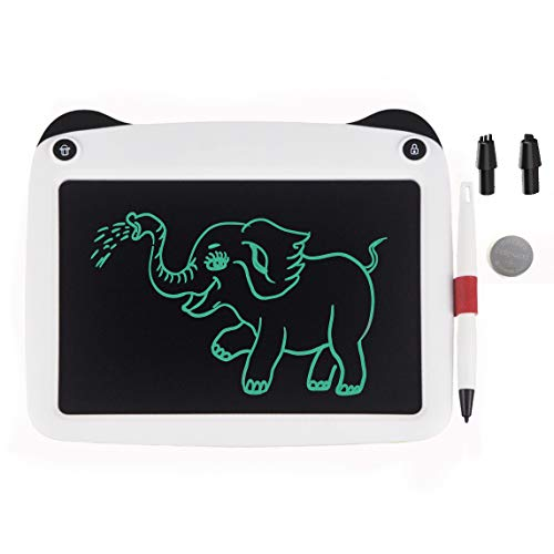 mom&myaboys LCD Writing Tablet for Birthday Gift,Kids Toy 9 Inch LCD Writing Tablet Electronic Writings Pads Drawing Board Gifts for Kids Office Blackboard - Erase Button Lock Included(White)