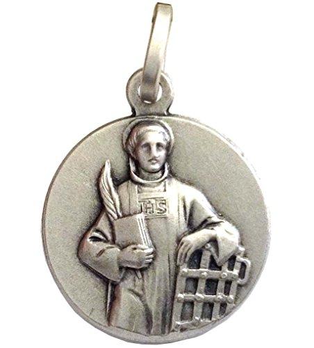 Medalla-de-San-Lorenzo-de-Plata-Maciza-925-Las-medallas-de-los-Patronos