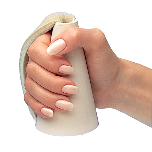 Rolyan Thermoplastic Hand Cone, Moldable Palm Cone Diversionary Device for Anti Contracture & Combativeness Prevention, Soft Adjustable Strap for Comfortable Hand Position for Arthritis & Hand Pain