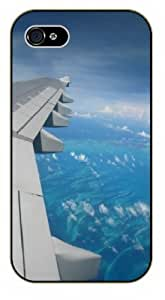 iPhone 4 / 4s Wing - black plastic case / Plane, aircraft, airplane