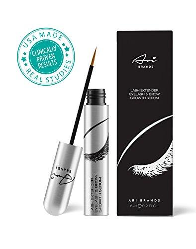 Ari Brands BEST Eyelash & Eyebrow Growth Serum - Clinically Proven Eyelash Enhancing Natural Conditioner Serum for Visibly Longer & Fuller Lashes and Brows. Lash Growth Serum. Brow Treatment. Brow Extender
