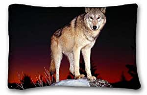 "Custom Animal Pillowcase Cover 20""X30"" One Side suitable for Twin-bed"