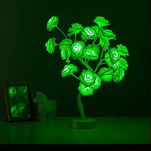 Tabe Lamp Color Changing Flower Tree Rose lamp with Remote Control with Timer Christmas Birthday Gift for Girl Kids…