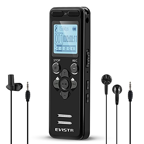 evistr voice recorder best recorder for lectures classes. Black Bedroom Furniture Sets. Home Design Ideas