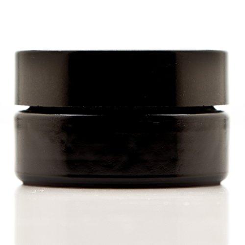 - Infinity Jars 30 Ml (1 fl oz) Cosmetic Style Black Ultraviolet Glass Screw Top Jar