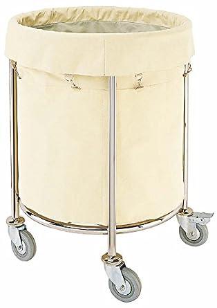 Ruedas para la ropa sucia la ropa sucia cesto para la ropa sucia redondo carrito de transporte: Amazon.es: Iluminación