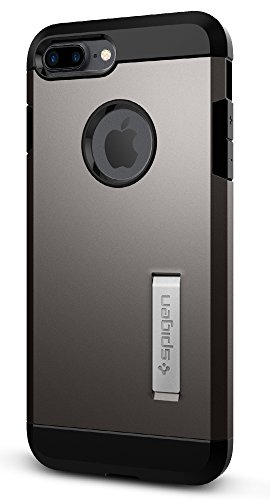 Spigen Tough Armor iPhone 7 Plus Case with Reinforced Kickstand and Heavy Duty Protection and Air Cushion Technology for Apple iPhone 7 Plus (2016) - Gunmetal