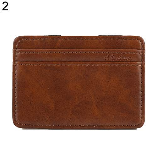 (Infgreate Stylish And Practical Purse Men's Business Faux Leather Money Clip Card Holder Slim Bifold Magic Wallet)