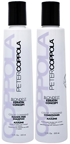 Peter Coppola Blondest Color Command Sulfate-Free with Azulene Shampoo And Conditioner 12oz DUO Set