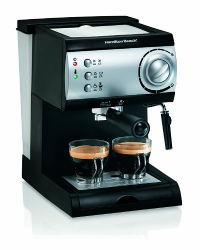 Hamilton Beach Espresso Machine with Steamer - Cappuccino, Mocha, & Latte Maker (40715)