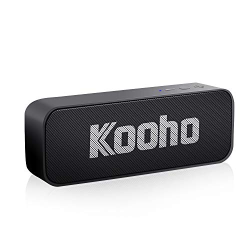 Bluetooth Speakers, KOOHO S7 Ultra-Thin Portable Wireless Speaker, Bluetooth 4.2+EDR, Built-in 45mm 10W Dual Driver Speakerphone with Loud Clear Stereo Sound, Outdoor Speaker for Hiking and Traveling