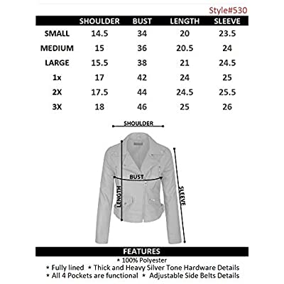 KOGMO Women's Faux Leather Zip Up Everyday Bomber Jacket at Women's Coats Shop