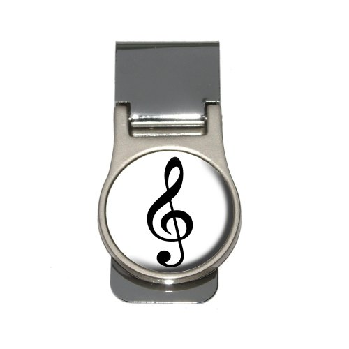 Treble Clef - Music Money Clip