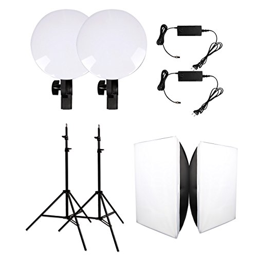 GSKAIWEN Photography Studio LED Lighting Kit Adjustable Light with Light Stand Softbox Tripod Photographic Video fill light Capture Portraits by GSKAIWEN