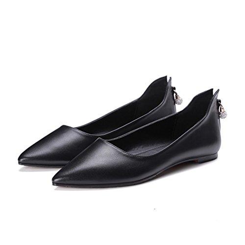 Comodidad plana zapatos asakuchi en primavera/Rhinestones coreanos puntiagudos Joker de zapatos C