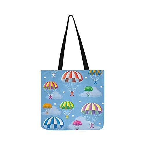 Multicolore Parachute Tote Sac Pour À Shopping Sacs De Hommes Bandoulière Femmes Main Soudure Toile Et En Sans t0Bq0ra