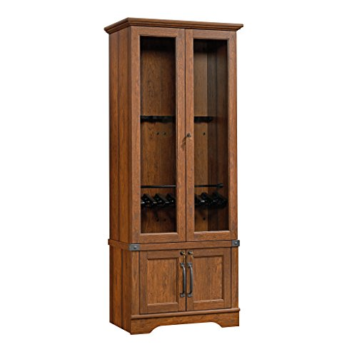 Sauder 419575 Gun Display Cabinet, Washington Cherry Finish
