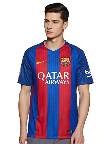 Nike Barcelona 2017 Home Soccer Jersey (Blue, Red) Large ()