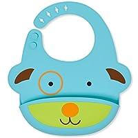 Skip Hop Zoo Fold & Go Silicone Bib, Blue Dog