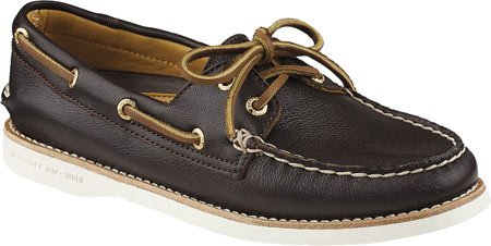 A Leather Gold B Eye 2 Brown Shoe M Dark Top Women's Sider O Sperry 11 Boat 4qI8wZ
