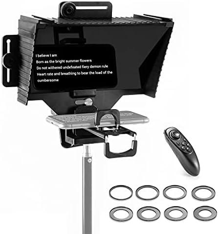 DUESI Kit de apuntador de teleprompter Universal compacto de Video/entrevista/transmisión en Vivo/presentación con Control Remoto