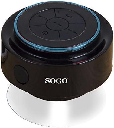 Sogo ALT-SS-8260 - Altavoz con Bluetooth Resistente al Agua, Color Negro y Azul