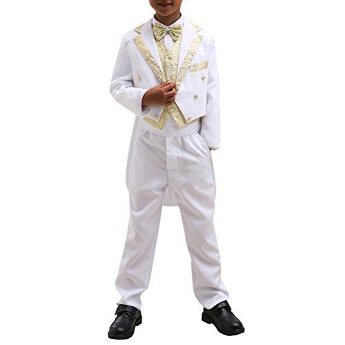 Boyland Boys 8-Piece Swedish Vintage Evening Tuxedo w Tails Notch Lapel Steampunk (Notch Tuxedo Tailcoat)