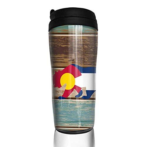 (Colorado State Flag Over California Bear Modern Insulated Traveler Coffee Mug Tumbler Stainless Steel Coffee Cup 12 Oz)