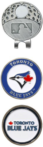 Magnetic Enamel (Team Golf MLB Toronto Blue Jays Golf Cap Clip with 2 Removable Double-Sided Enamel Magnetic Ball Markers, Attaches Easily to Hats)