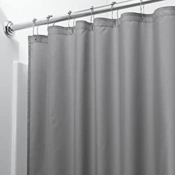 Extra Wide Vinyl Shower Curtain For A Clawfoot Tub White With Magnets 180 X 70