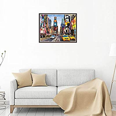 CAIfnv New York Scenery Puzzle, Puzzles 1000 Piece Adults Kids Large Puzzle Game,New York Scenery Jigsaw Puzzle: Toys & Games